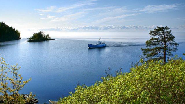 Ладожское море на карте мира