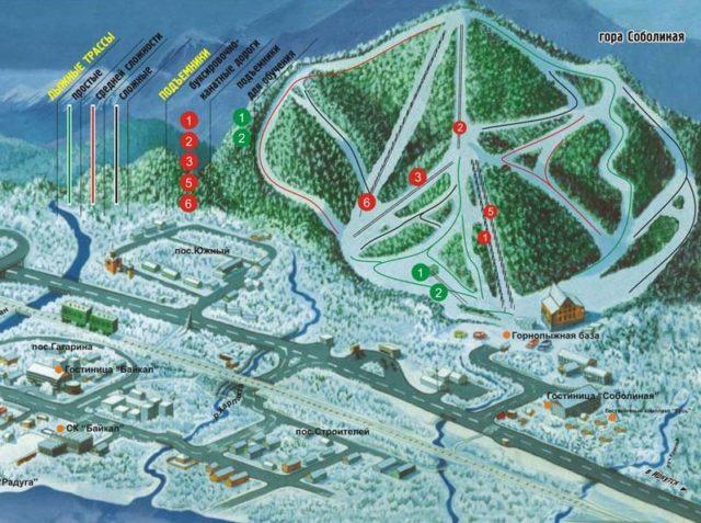 Горнолыжный курорт Гора Соболиная: трассы, гостиницы, фото